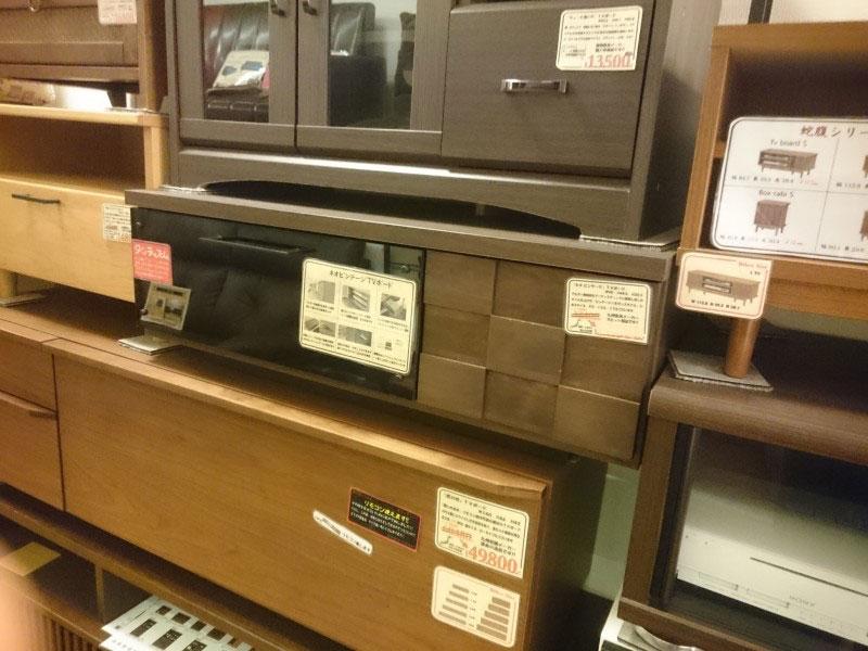 展示で商品を確認できるテレビ台