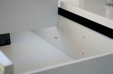 モダンアートテレビボードの引き出し内部の仕切り板