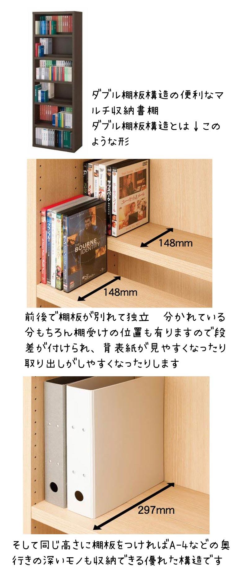超収納力書棚