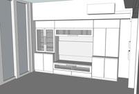 すえ木工ピアノシリーズ壁面収納モデリングデータ