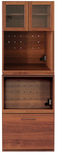 日本製 完成品 小さい食器棚
