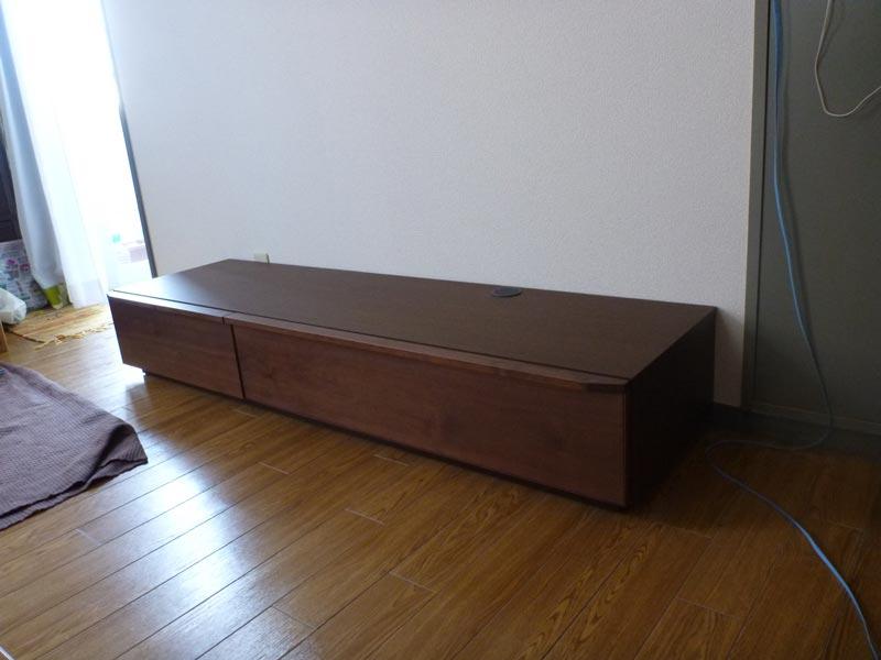 隠してみせるテレビボード納品事例4