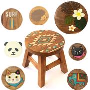 丸椅子 スツール ウッドスツール 木製