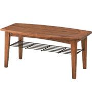 無垢の木の色の小さいテーブル