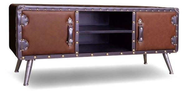 レザーテレビ台 合皮張りの安いかっこいいテレビ台