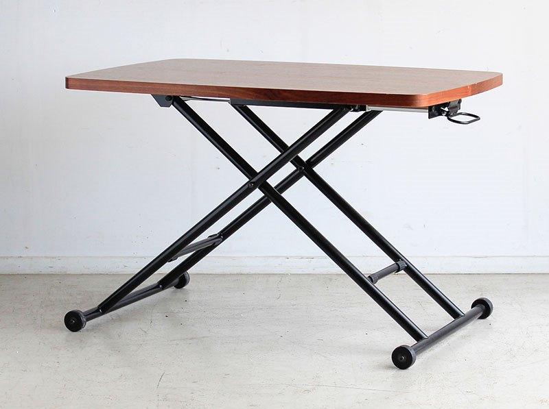 高さが上げ下げできる小さめ机